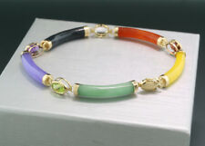 *TOP* Edelstein Jade Armband in 14kt/585er Gelbgold Wert 2250 € Neu