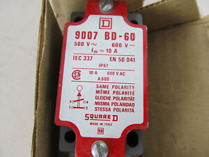 NEW Square D 9007 BD-60 Limit Switch 600VAC 10A