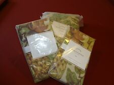 "NIP Pottery Barn ""Giorgetta"" Floral Bird Queen Duvet Cover + 4 Shams Bed Set"