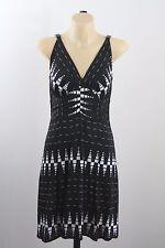 Size S  10 Ladies Black Sun Dress Gypsy Boho Chic Cocktail Tribal Beach Design