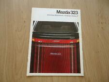 MAZDA 323 HATCHBACK AND 4 DOORS BROCHURE / PROSPEKT 1989