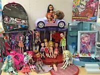Huge Mixed Lot Bratz Monster High Barbie MLP Dolls Playset Dance Floor Runway