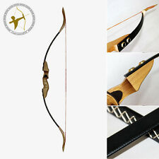 New 30LBS@28'' Archery Hunting Black Leather Traditional Take-down Recurve Bow
