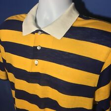 VTG 1970s Striped Collared T Shirt Stranger Things Sears Put On Shop Acrylic *M