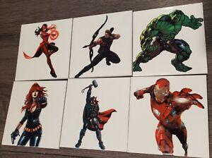 6pk of Avengers ceramic tile 4.25 x 4.25 will combine s/h