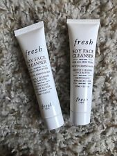 FRESH Soy Face Cleanser LOT 2 x .6 Oz Travel Size NEW! Free Shipping!