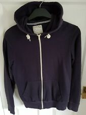 Burton Menswear Mens Small Navy Blue Hoody Zipper Hoodie Jumper