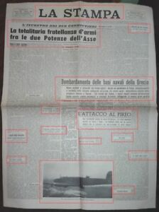 WW2*L'ATTACCO AL PIREO NAVI ANCORATE AL PORTO AVVOLTE DA FUOCO E FUMO*N.3222