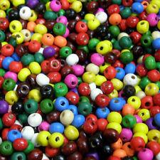 Kids Craft Perline 500 x Multi Mix di sementi di LEGNO perline 6 x 5 mm (30g) W127
