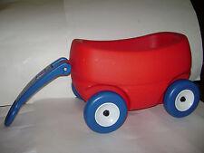 STEP 2 Little Helper's Wagon Kids Cart Doll Bear Pull Along Basket Toy Red Blue