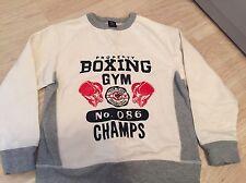 Gap chicos 'Boxeo Gimnasio Champs'S Manga Raglán Jersey Pequeño de 6-7 años en muy buena condición