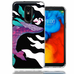 For LG Stylo 4 Mystic Floral Whale Double Layer Phone Case Cover