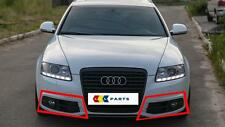 AUDI A6 C6 08-12 NEW GENUINE S LINE FRONT BUMPER FOG LIGHT GRILL SET LEFT+RIGHT
