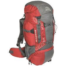 Highlander Discovery 65 Trekking Sac à Dos Voyage Pack Randonnée 65L Rouge