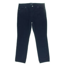 NEW Womens Stunning Tommy Hilfiger Navy Straight Corduroy Pants AU8 W26 L32