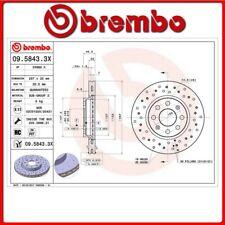 09.5843.3X#29 DISCO FRENO ANTERIORE SPORTIVO BREMBO XTRA FIAT PUNTO EVO (199_) 1
