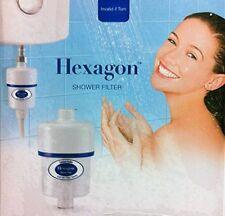 Hexagon Bathroom Shower Head Water Filter Water Softener Remove Chlorine