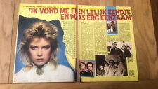 KIM WILDE 'ugly duckling' 2 page ARTICLE/clipping from Joepie Belgian magazine