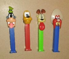 4 PEZ Dispensers Cartoon Characters Odie Goofy Pluto Mixed Lot