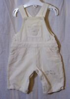 Baby Boys Matalan White Soft Cord Embroidered Teddy Dungarees Age 0-3 Months