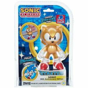Mini Super Stretchy Sonic the Hedgehog Figure Gold 30th Anniversary Edition