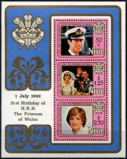 Niue 1982 SG#MS475 Princess Of Wales 21st Birthday MNH M/S #D38015