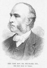 Rev Thomas William jex-blake, decano de los pozos-Antiguo impreso 1891