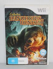 Cabela's Dangerous Hunts 2011 (Nintendo Wii, 2010) PAL - COMPLETE