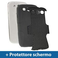 Custodia Silicone e Maglia Nero per Samsung Galaxy S3 III i9300 Case Cover