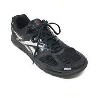 Men's Reebok CrossFit Nano 2.0 Training Shoes Sneakers Size 8M Black Gray AA15