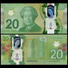 Canada 20 Dollars, 2015, P-NEW, Polymer, UNC>COMM.
