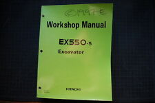 HITACHI EX550-5 Excavator WORKSHOP Manual Book service repair OEM technical shop
