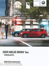 """Lista de precios bmw 1er 9/11 d Price List """"auto precio lista a los turismos auto automóviles 2011"""