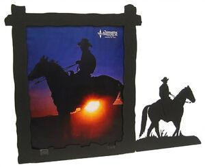 Male horseback rider black metal 8x10 vertical picture frame