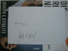 Joseph Stiglitz signiert Foto Nobelpreis Unterschrift Signatur Autogramm
