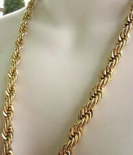 """NAPIER ROPE LINK NECKLACE 30"""" HEAVY CHAIN GOLD TONE PATENTED VINTAGE Signed"""