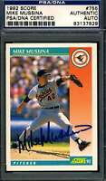 Mike Mussina PSA DNA Coa Autograph 1992 Score Rookie Hand Signed