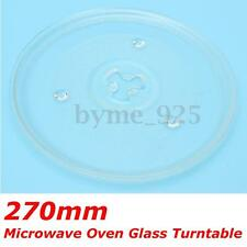 Clear Microwave Oven Turntable Glass Tray Glass Plate Accessories Dia: 27cm