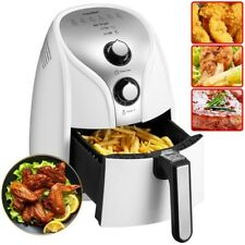1500W Air Fryer Electric Deep Cooker Oven 2.6 qt Pan w/ Basket Detachable White