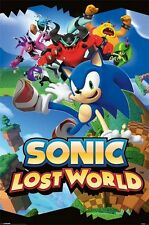 """SONIC LOST WORLD POSTER """"LICENSED"""" BRAND NEW """"SONIC THE HEDGEHOG, DOCTOR EGGMAN"""""""