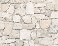 TEXTURED VINTAGE OLD BRICK STONE WALL FEATURE WALLPAPER AS CREATION 6924-29