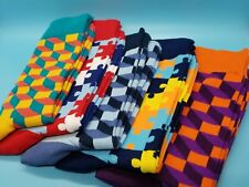 FYYPIN Casual Socks- (Individual Lots of) 5 Pairs of Bright Vivid Fun Crew Socks