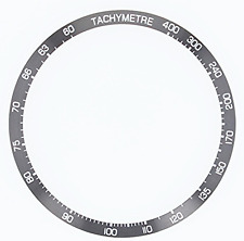 BEZEL INSERT FOR TAG HEUER CARRERA 16 CV-2014 GREY  CHRONOGRAPH AUTOMATIC PART