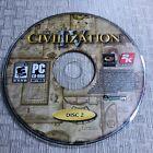 Sid Meier's Civilization Iv Pc Cd Computer Game Disc 2 Light Wear ( Disc Only)