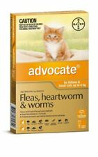 Advocate Flea Heartworm and Worm Treatment for Small Cats 4kg - 6 Pack