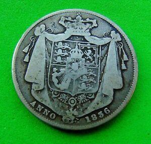 EXCELLENT  WILLIAM  IV  GF  *1836*  SILVER  HALFCROWN  2/6...LUCIDO_8  COINS