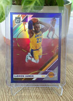 2019-20 Donruss Optic Lebron James Purple Holo #60 Los Angeles Lakers