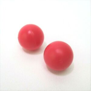 2011 Minute to Win It Replacement Parts Pieces- 2 Red Plastic Balls