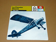 FIESELER STORCH 1936-1945 LUFTWAFFE AVIATION FICHE WW2 39-45