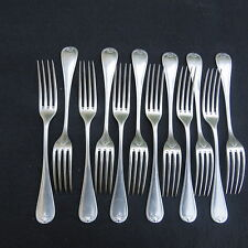 CHRISTOFLE 12 tenedores de mesa metal chapado en plata modelo conchas berain